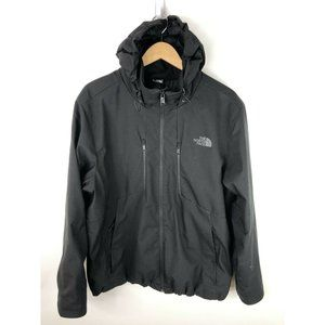 The North Face Winter Jacket Mens XL Black Hooded Windwall Primaloft